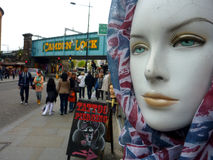 Mannequin in market  at Camden Lock London Royalty Free Stock Images
