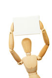 Mannequin canvas above head Royalty Free Stock Photography