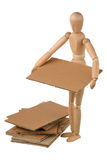 Mannequin and cardboard Stock Images
