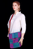 Mannequin carrying a bag wearing indian kurti Royalty Free Stock Image