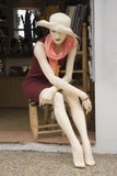 Mannequin on a chair Royalty Free Stock Images