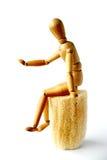 Mannequin che si siede sul loofah fotografie stock