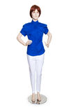Mannequin with clothing isolated Royalty Free Stock Photo