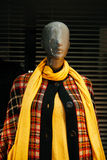 Mannequin in coat and neck scarf Stock Photo