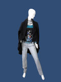 Mannequin in coat and scarf Royalty Free Stock Photography
