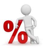 Mannequin com sinal de por cento Fotos de Stock