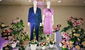 Mannequin couple stock photos