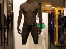 Mannequin dans l'hublot de système Image stock