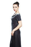 Mannequin dans la robe en soie de velours Image stock