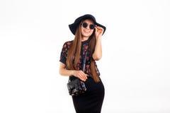 Mannequin dans les lunettes de soleil et le chapeau Image libre de droits