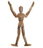 Mannequin de madeira levantado Imagens de Stock