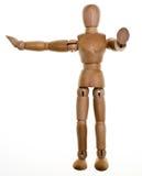Mannequin de madeira levantado fotografia de stock royalty free