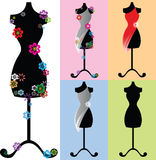 Mannequin decorato con i fiori Illustrazione di Stock
