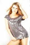Mannequin die op lichte achtergrond wordt gesteld stock fotografie
