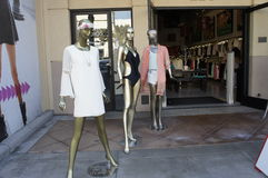 Mannequin On Display. These three mannequins displays the fashion trends of women's wear at the summertime Stock Image