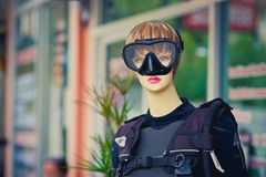 Mannequin with diving mask Royalty Free Stock Photography