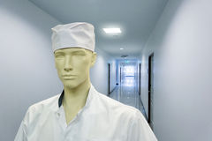Mannequin in the doctor costume Royalty Free Stock Photos