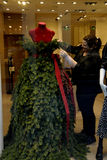 MANNEQUIN DRESS AS CHRISTMAS TREE Stock Images