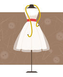 Mannequin with dress. Vector Illustration Stock Photos
