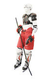 Mannequin dressed in protective clothing hockey stock images
