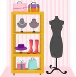 Mannequin e acessórios das mulheres Fotos de Stock