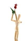 Mannequin e fiore rosso Fotografia Stock Libera da Diritti