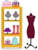 Mannequin ed accessori delle donne royalty illustrazione gratis