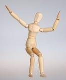 Mannequin en bois heureux Photographie stock
