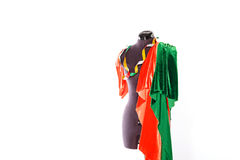 Mannequin with fabric and ribbon Stock Photography