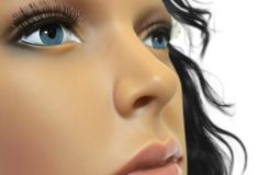 Mannequin face close up. Image of mannequin face close up Royalty Free Stock Images