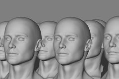Mannequin Factory. 3d computer generated Royalty Free Stock Photography