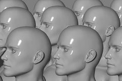Mannequin Factory. 3d computer generated stock illustration