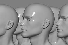 Mannequin Factory. 3d computer generated Royalty Free Stock Photo