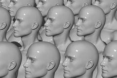 Mannequin Factory. 3d computer generated royalty free illustration