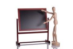 Mannequin faisant une exposition de démonstration Photographie stock libre de droits