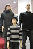 Mannequin family in shop Stock Photos