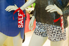 Mannequin in fashion window display Royalty Free Stock Photography