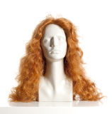 Mannequin Female Head with Wig. On White Royalty Free Stock Photos