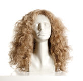 Mannequin Female Head with Wig Royalty Free Stock Photos