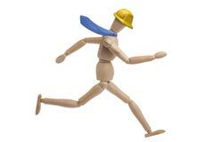 Mannequin-Geschäftsmann Running Isolated Stockfotografie