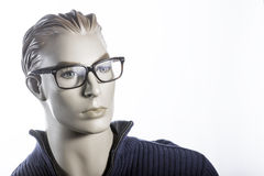 Mannequin with glasses. A Mannequin wearing glasses and sweater Stock Photos