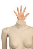 Mannequin with a hand Royalty Free Stock Photography