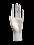Mannequin Hand. Isolated on a black background Royalty Free Stock Image