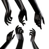Mannequin Hand. On white backgound stock images