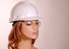 Mannequin in hard hat Stock Photo
