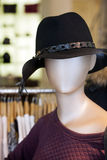 Mannequin with hat Royalty Free Stock Photos