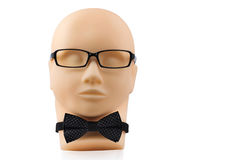 Mannequin head with black eyeglasses Royalty Free Stock Photography