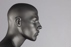 Mannequin head. Grey mannequin head on white background Royalty Free Stock Image