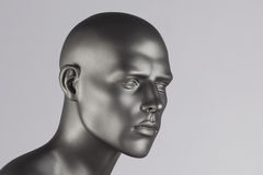 Mannequin head. Grey mannequin head on white background royalty free stock photos