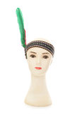 Mannequin head with red indian headband Stock Photos